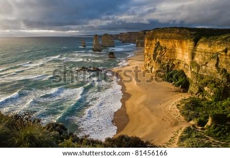 Stunning Great Ocean Road Australia - stock photo