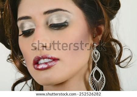 Stunning Headshot of A Beautiful Woman - stock photo