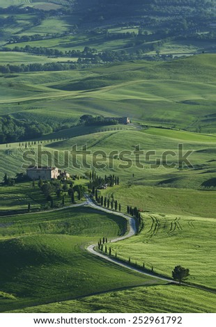 Stunning Landscape in Tuscany, Italy - stock photo