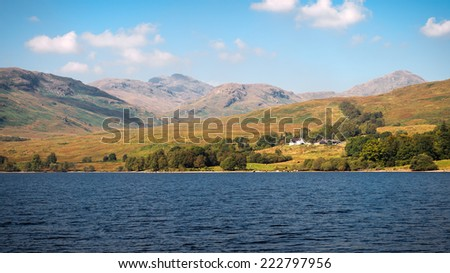 Stunning landscape, Loch Katrine, Scottish Highlands, UK