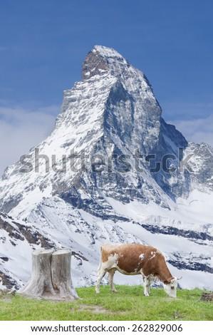 Stunning landscape of Swiss - stock photo