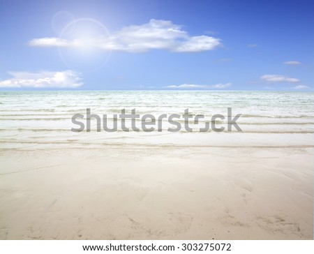 stunning seascape view at the natural beaches of Pattaya in Thailand. - stock photo