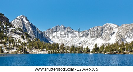 Stunning Sierra Nevada Alpine Lake Scenery, California, USA - stock photo