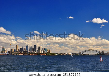 Stunning View from Sydney Harbor - stock photo