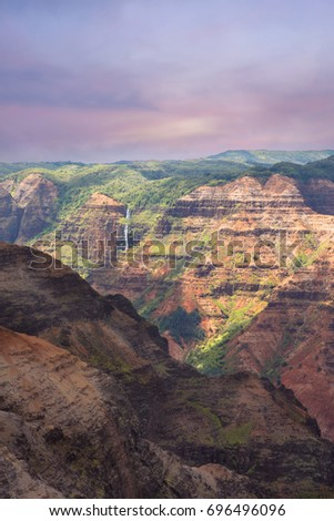 stunning view of waimea canyon overlook, Kauai, Hawaii