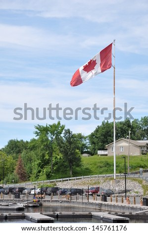 Sturgeon Falls Marina, Ontario, Canada - stock photo