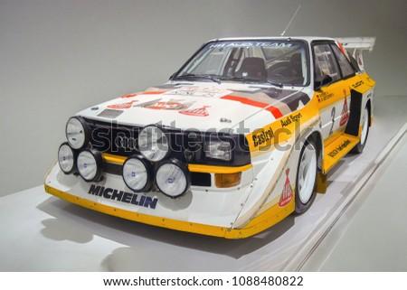 Stuttgart Germanyapril 7 2017 1985 Audi Stock Photo Edit Now