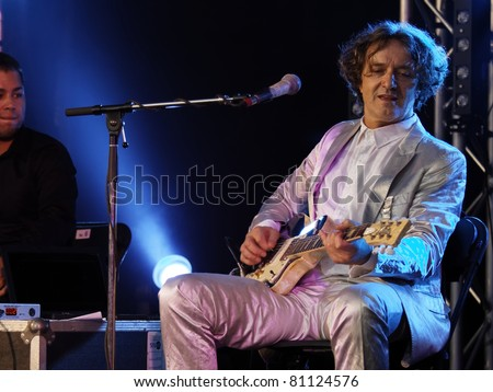 STUTTGART, GERMANY - JULY 07: Goran Bregovic & His Wedding And Funeral Band in concert at Jazzopen Stuttgart on July 07, 2011 in Stuttgart, Germany