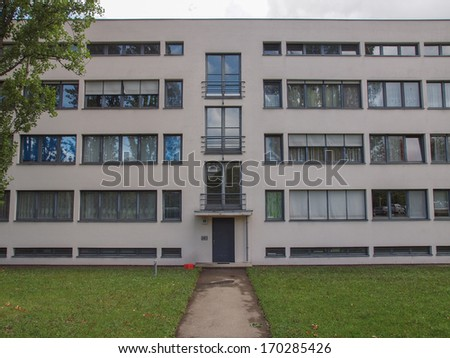 STUTTGART, GERMANY - JULY 14, 2012: The Weissenhof Siedlung model houses were designed in 1927 for the modern architecture exhibition by major rationalist architects of the time