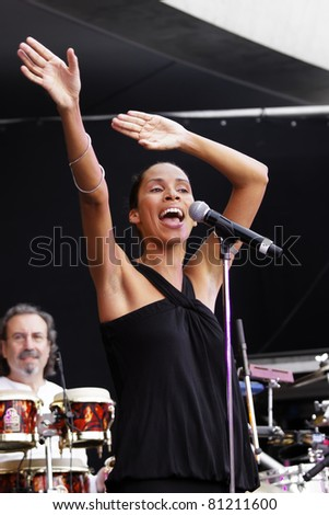 "STUTTGART - JULY 08: ""Be alias Betina ignacio"" concert at Jazzopen Stuttgart July 08, 2011 in Stuttgart, Germany - stock photo"