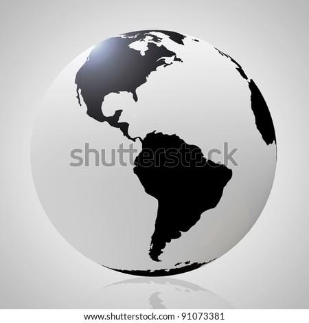 Style Black Globe - stock photo