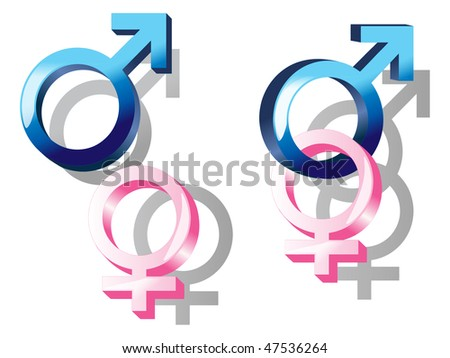 style, clean and professional sex symbol of male and female; symbol having a sex