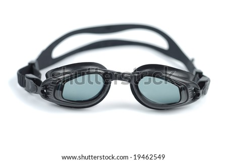Style glasses for swimming isolated over white background