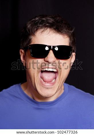 Style man cry - stock photo
