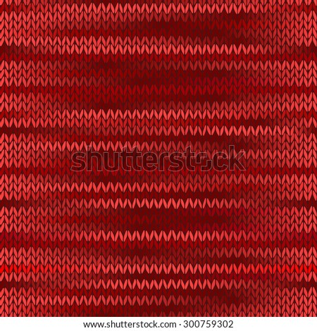Style Seamless Knitted Melange Pattern. Red Color Illustration - stock photo