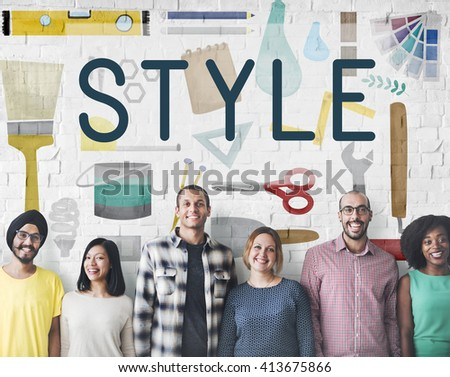 Style Talent Skill Ability Craftsmanship Art Technique Concept - stock photo