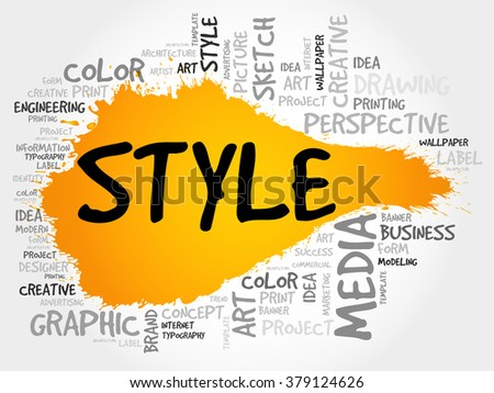 STYLE word cloud concept - stock photo