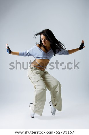 Stylish and cool looking breakdancer