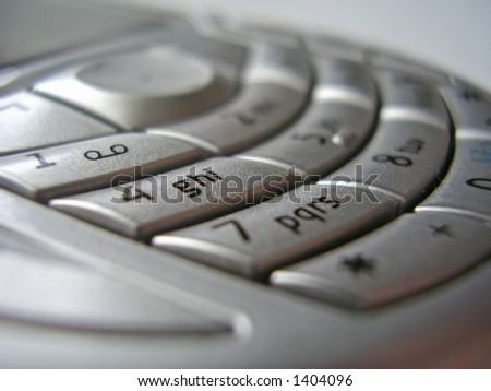 stylish and modern looking mobile phone interface - button close-up, shallow dof - stock photo