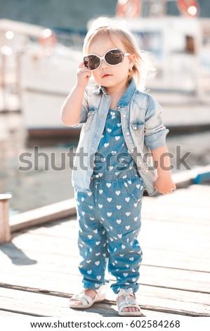 Stylish Baby Girl 23 Year Old Stock Photo 100 Legal Protection