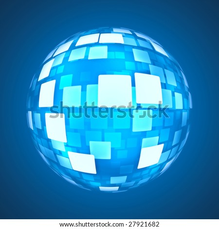 stylish blue ball