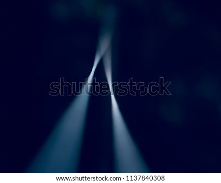Stylish blurry nylon ropes isolated object unique photograph