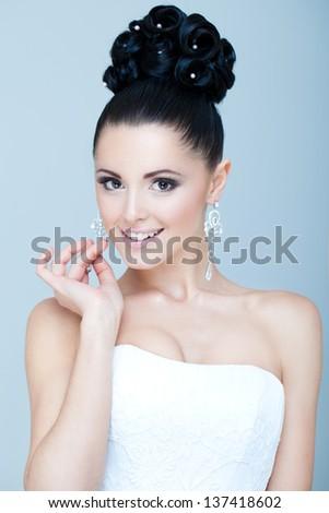 Stylish bride - stock photo