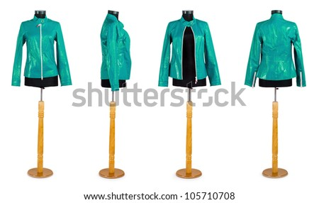 Stylish clothing isolated on the white background
