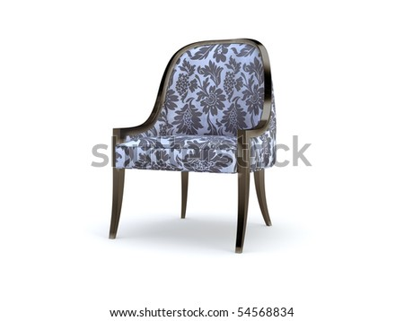 stylish 3d chair on the white background
