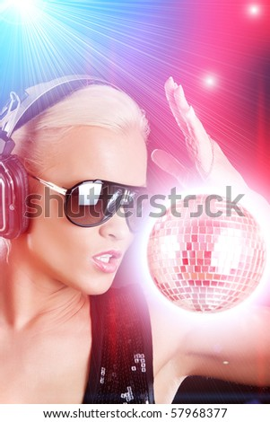 Stylish female DJ