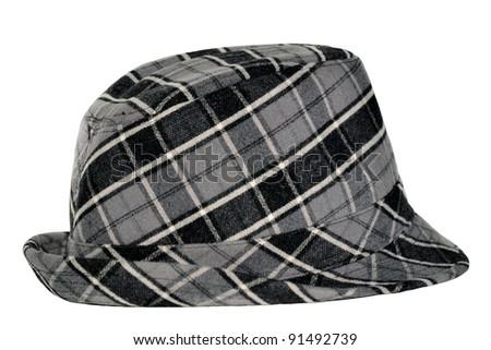 stylish hat isolated on white - stock photo