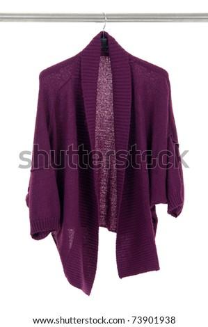 Stylish jacket on hangers at the show - stock photo