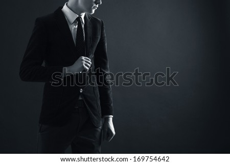 Stylish man in an elegant suit.