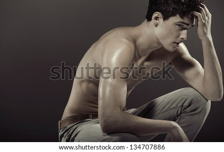 Stylish man posing - stock photo