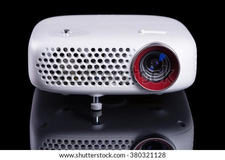 Stylish Mini Home Cinema Led Projector Stock Photo 380321128 ...