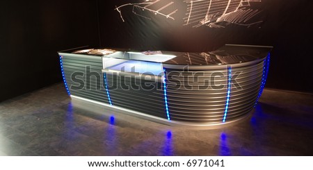 Stylish neon bar - stock photo