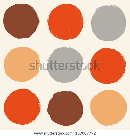 Stylish pattern with color grunge circles