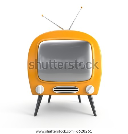 Stylish retro TV - isolated
