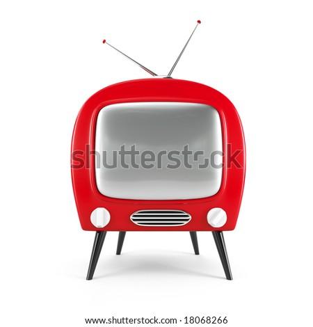 Stylish retro TV. More TV in my gallery - stock photo
