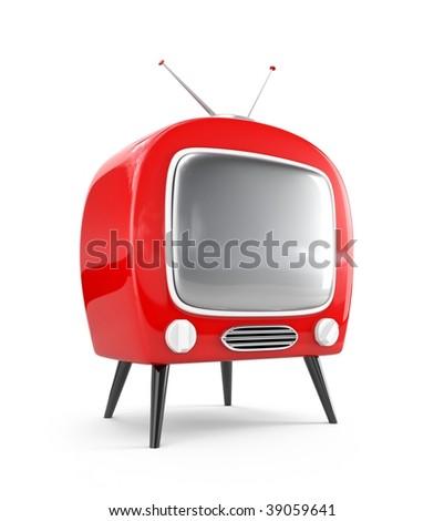 Stylish retro TV. More TV in my portfolio - stock photo