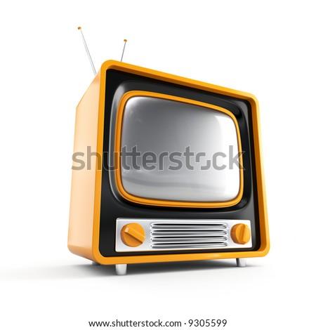 Stylish retro TV. More TV in my portfolio. - stock photo