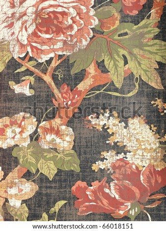 Stylish rose decorative ornament. More of this motif & more decors in my port. - stock photo