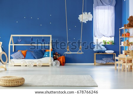Stylish Scandinavian Decorated Room Of Child
