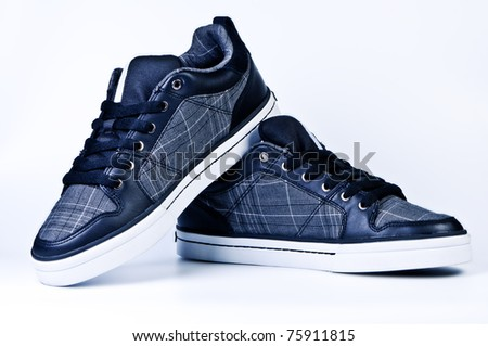 Stylish sneakers. - stock photo