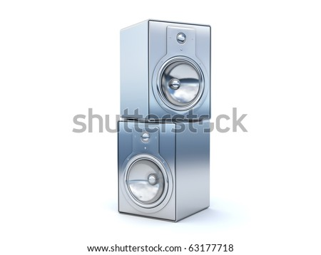stylish stereo speakers