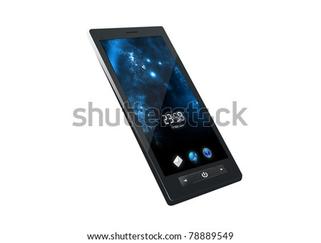 Stylish Touchscreen Smartphone - stock photo
