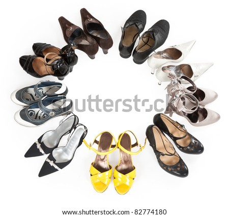 stylish women's shoes are round the Stock - stock photo