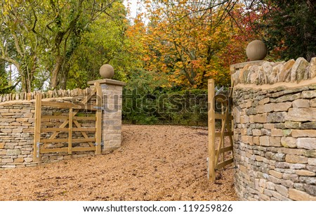 Wooden Gate Open Stock Photos Images Amp Pictures