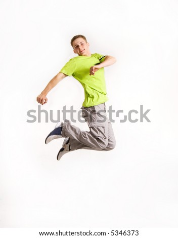Stylish young man isolated over white - stock photo