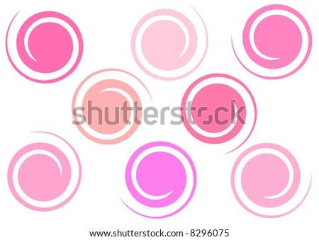 stylized bubblegum swirls - stock photo